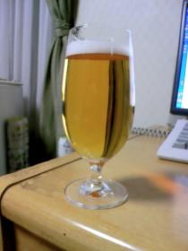 無印良品 ビールグラス お値段700円なり。